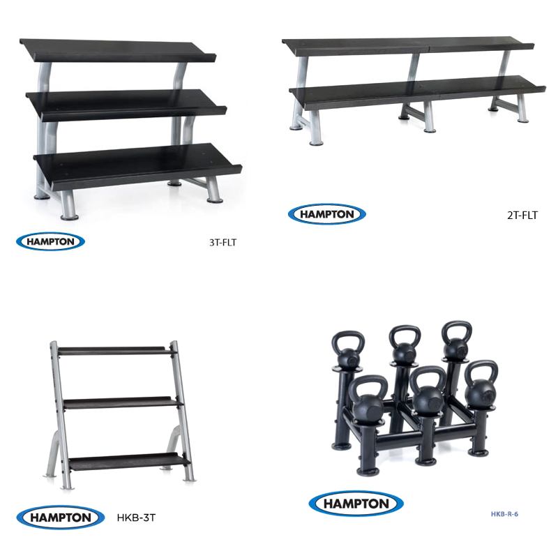 Hampton Fitness Kettle Bell Racks
