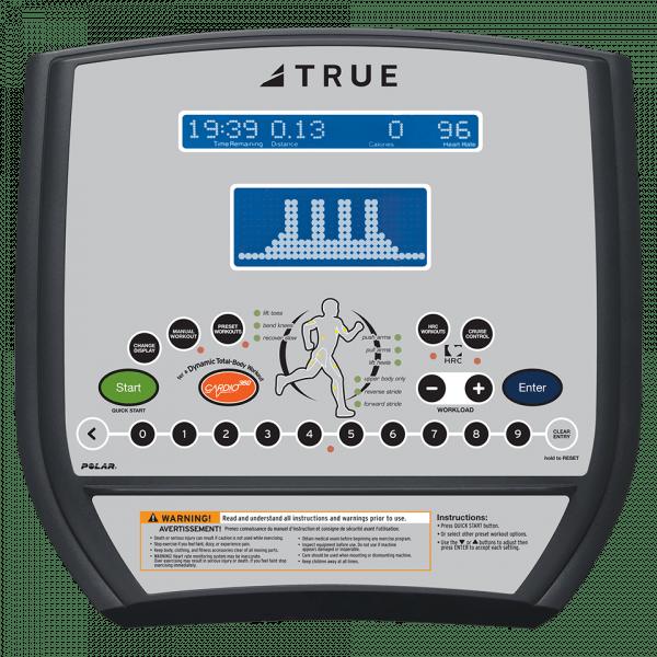 TRUE C200 LCD Elliptical Console